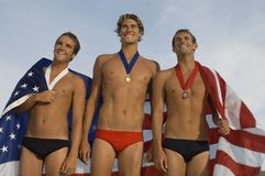 Happy Swimming Champions Royalty Free Stock Photos