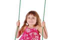 Happy swinging Royalty Free Stock Photos