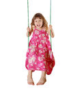 Happy Swinging Girl Royalty Free Stock Photo