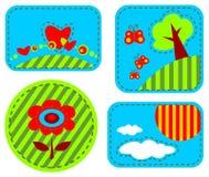 Happy symbols set. Stylized happy symbols set isolated on a white background Royalty Free Stock Image