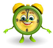 Happy Table clock character Royalty Free Stock Photography
