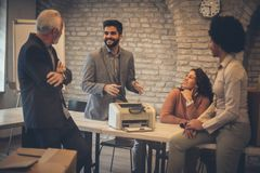 Free Happy Talk With Colleague Royalty Free Stock Photo - 139277035