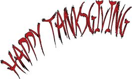 Happy Tanksgiving text sign illustration Royalty Free Stock Photography