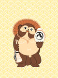 Happy tanuki Stock Images
