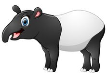 Happy tapir cartoon Stock Photo