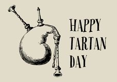 Happy Tartan Day royalty free illustration