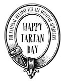 Happy Tartan Day Stock Photos