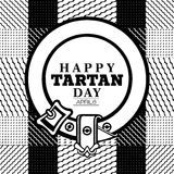 Happy Tartan day Royalty Free Stock Images