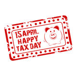 Happy Tax Day. Royalty Free Stock Images