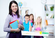 Happy teacher Stock Image