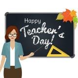 Happy Teacher Day greeting Royalty Free Stock Photos