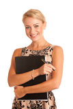 Happy teacher. Isolated over white Royalty Free Stock Image
