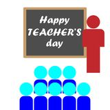 Happy Teacher& x27;s Day. Happy Teacher& x27;s Day banner Stock Images
