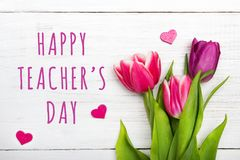 Happy Teacher`s day card. Stock Photo