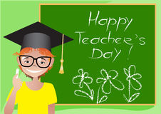 Happy Teacher's Day card royalty free stock photography