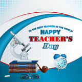 Happy Teacher's Day, design background Royalty Free Stock Photo