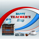 Happy Teacher's Day, design template with school books Stock Photography