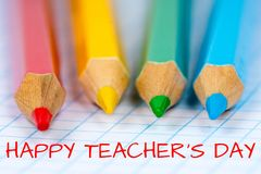 Happy teacher`s day Stock Images