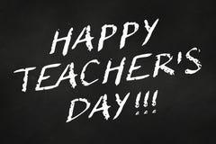 happy teacher's day written on a chalkboard stock photography