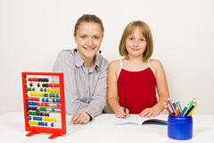 Happy teacher and student Stock Photography