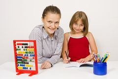 Happy teacher and student Royalty Free Stock Image