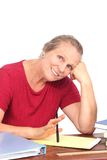 Happy teacher or writer Royalty Free Stock Photo