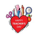 Happy Teachers Day Stock Images