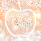 Happy Teachers` Day. An abstract illustration in rose gold for Teachers` Day stock photo
