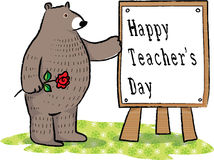 Happy teachers day Stock Image