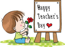Happy teachers day Stock Images