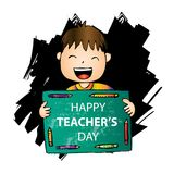 Happy teachers day card stock illustration