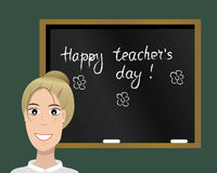 Happy teachers day card. Vector illustration. royalty free stock photos