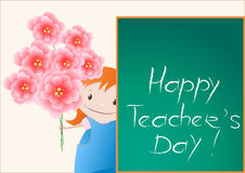 Happy Teachers Day card Royalty Free Stock Image