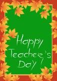 Happy Teachers Day card Stock Image