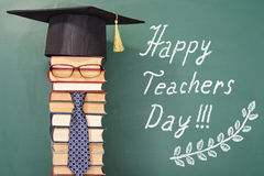 Happy teachers day. Funny concept Royalty Free Stock Photo
