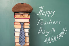 Happy teachers day. Funny concept Royalty Free Stock Photography