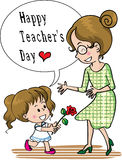 Happy teachers day Stock Photography