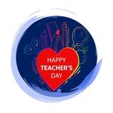 Happy teachers day. Greeting card Royalty Free Stock Photos