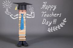 Happy teachers day. Funny education concept Royalty Free Stock Photography