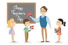 Happy teachers day. Royalty Free Stock Photography