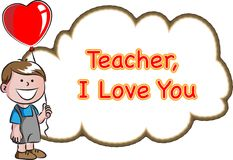 Happy teachers day. Vector drawing icon Stock Image
