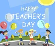 Happy Teachers Day. Vector illustration flat design Royalty Free Stock Image