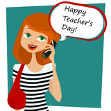 Happy teachers day message Royalty Free Stock Photo
