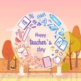 Happy Teachers Day Autumn Vector Illustration Royalty Free Stock Photo