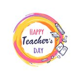 Happy Teachers Day Poster Vector Illustration Stock Photo