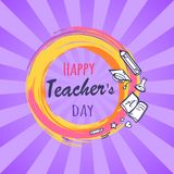 Happy Teachers Day Poster Vector Illustration Royalty Free Stock Photography