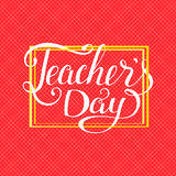 Happy teachers day typography. Lettering design for greeting card