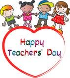 Happy Teachers day. Vector drawing Happy Teachers day card Stock Photo