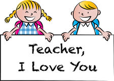 Happy Teachers day. Vector drawing Happy Teachers day card Royalty Free Stock Photography