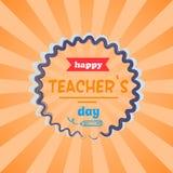 Happy Teachers Day Vector Illustration Orange Rays vector illustration